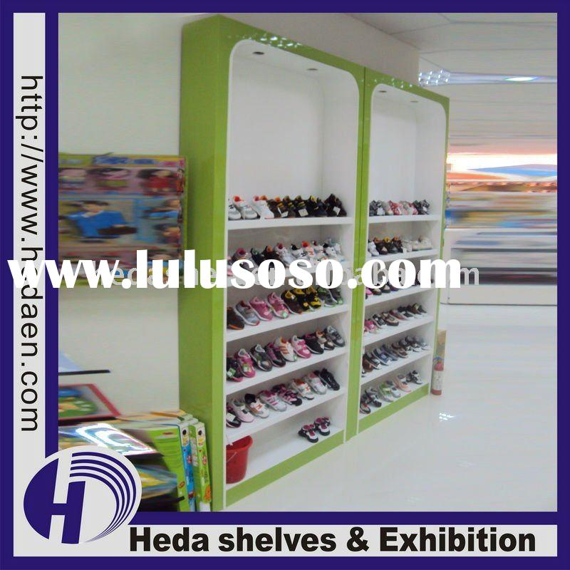 Wall Unit Shoe Display Cabinet