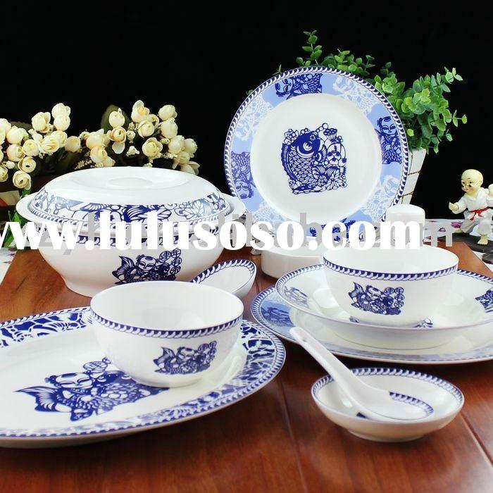 White Porcelain Dinnerware Set With or Without Printing