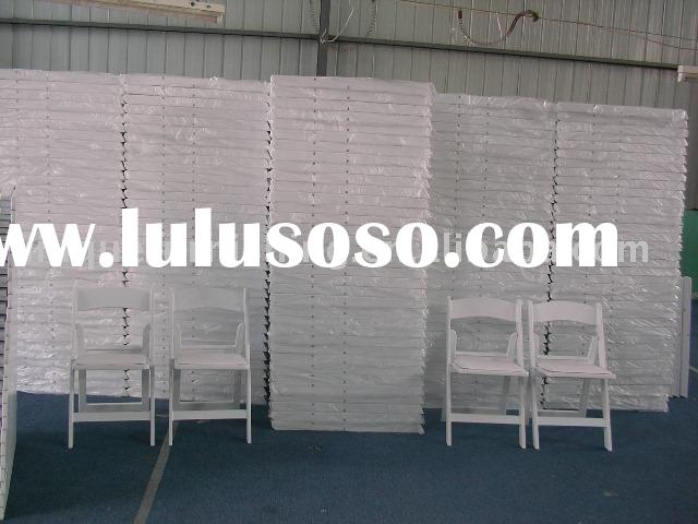 White resin folding chair for banquet ,rental