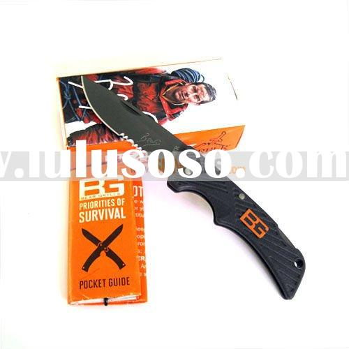 Wholesale Gerber Bear Grylls Compact Scout Camping Fishing Pocket EDC Folding Knife Half Serrated Bl