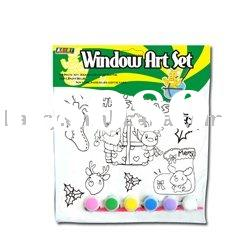 Window art set for kids,glass deco