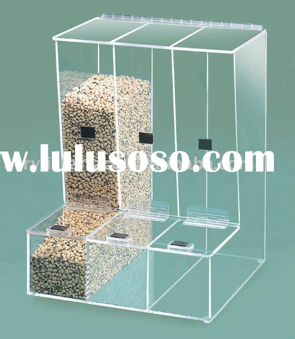 acrylic gravity feed bulk dispenser