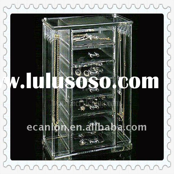 acrylic jewelry display cabinet