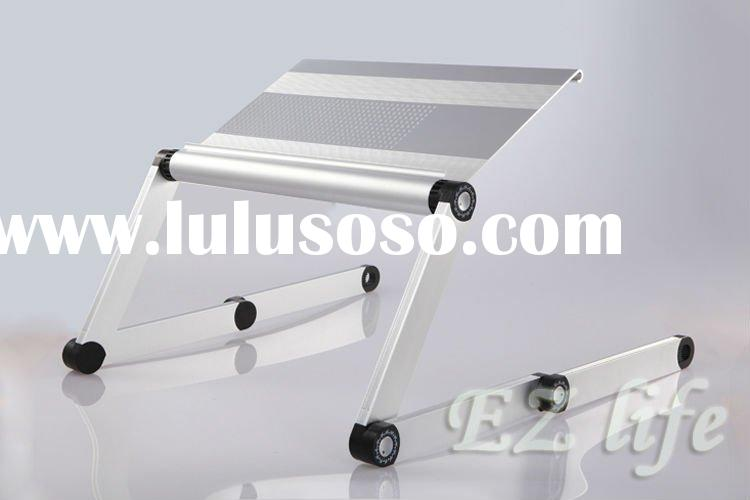adjustable laptop table with rotatable mouse pad