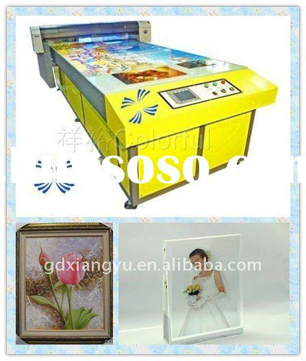 art photo glass digital printing machine of 4 colors