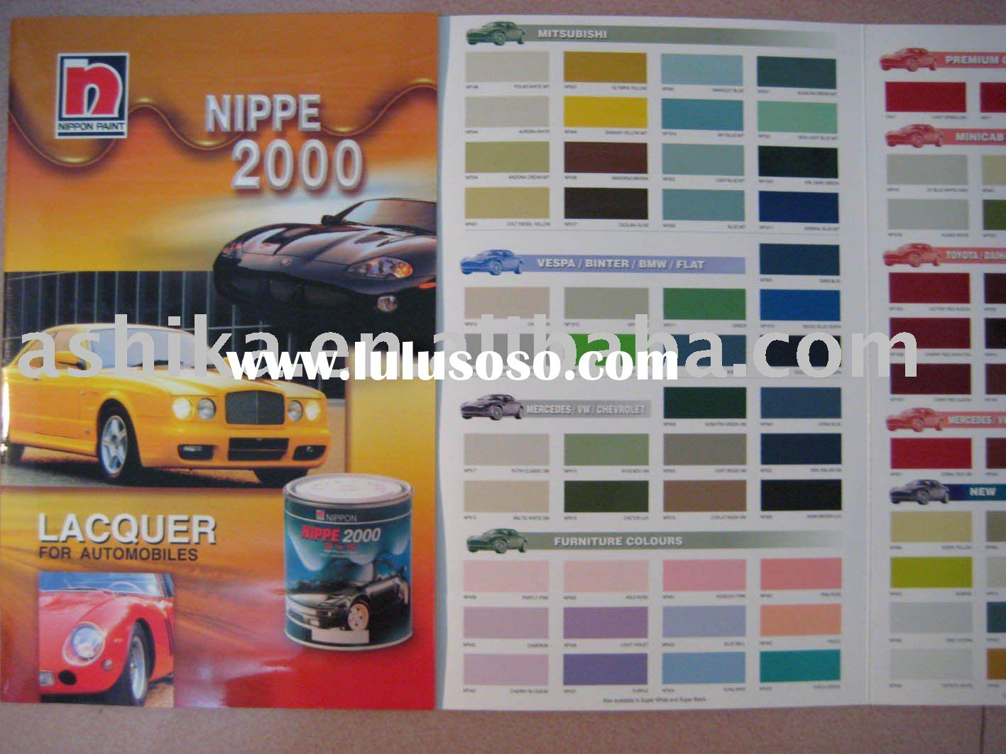 automotive paints color card