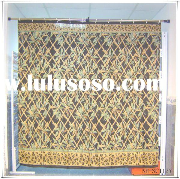 bamboo design fancy shower curtains