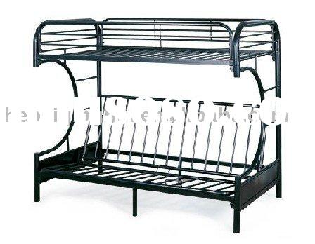 black futon metal bunk bed frame