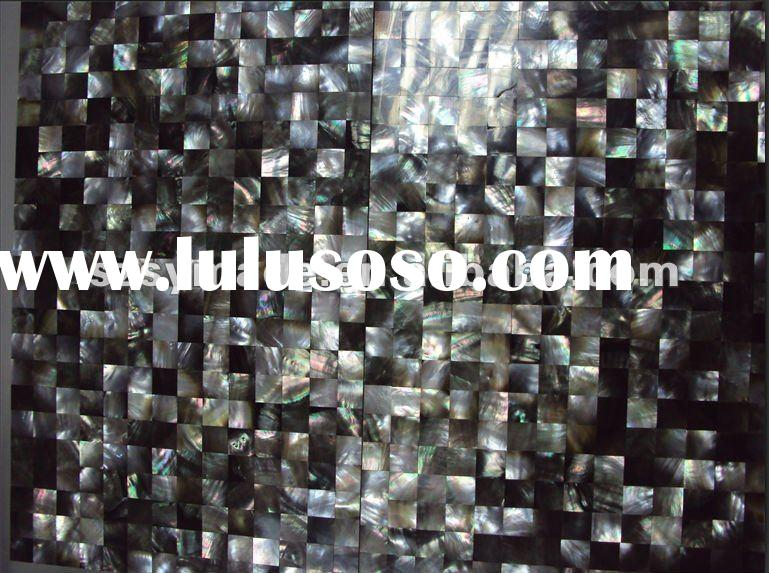 black mother of pear tile for wall tile pearl shell mosaic tile