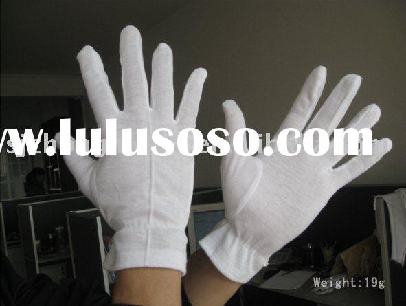 china white cotton gloves