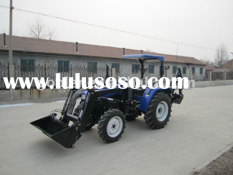 compact garden tractor with Front end loader and Backhoe/excavator