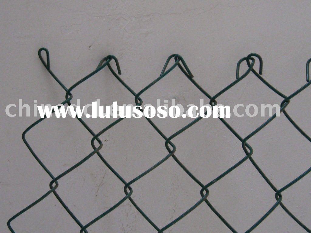diamond wire mesh vinyl coated chain link