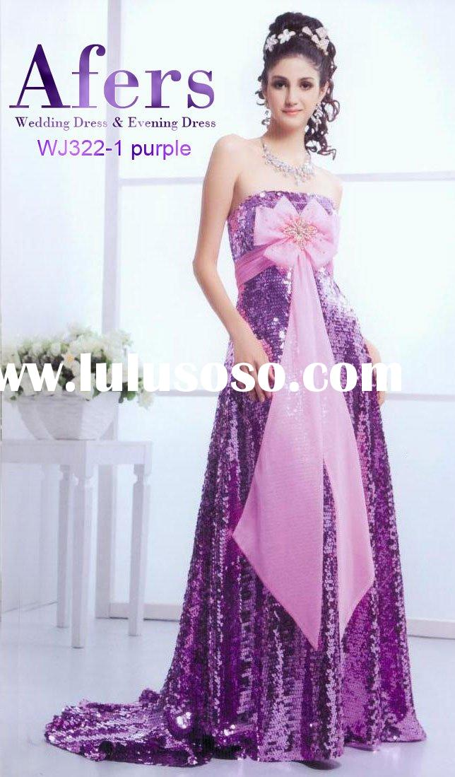 evening sequins beaded gown,purple formal evening dress,party dress NO.WJ322-1