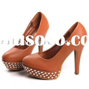 fashion 2011 high heels for seasons wholesale price X4 shoe manufacture
