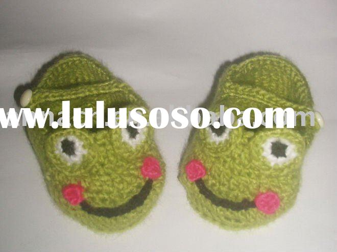 hand knit baby boy shoes