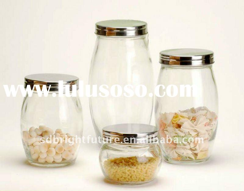 honey glass jar with metal lid