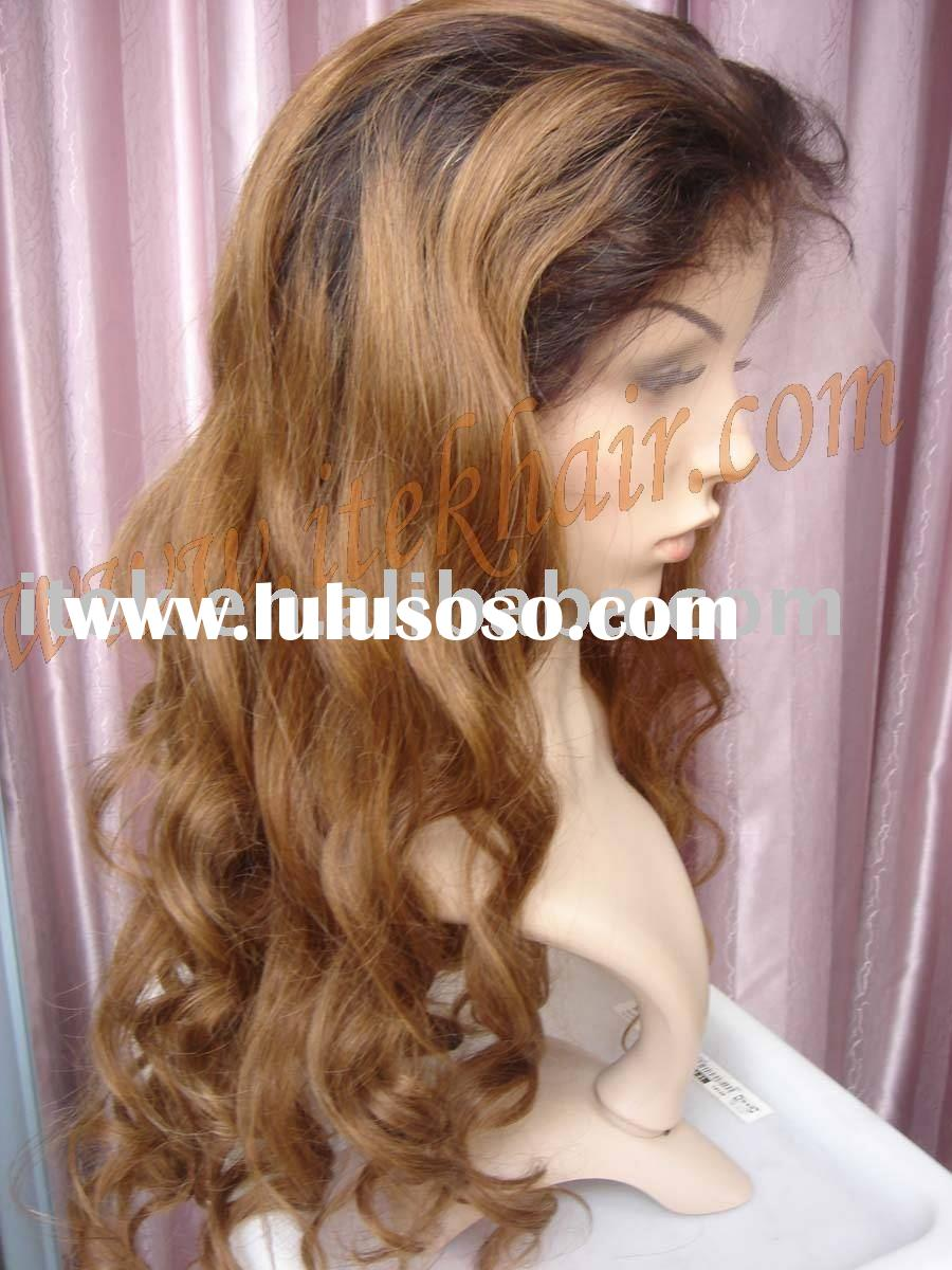 in stock beyonce style,loose curl 100% Indian remy hair full lace wig, accept paypal!