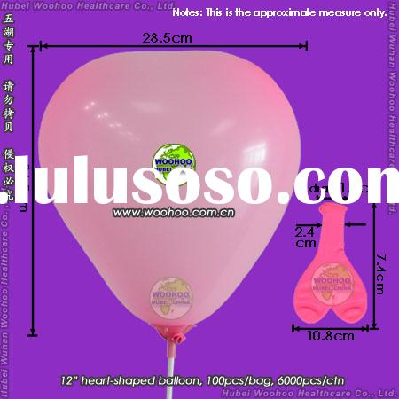 inflatable latex heart-shaped balloon for birthday