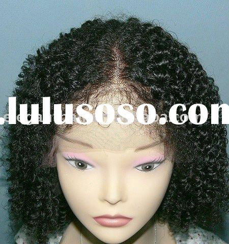 jerry curl chinese hair full lace wig with baby hair