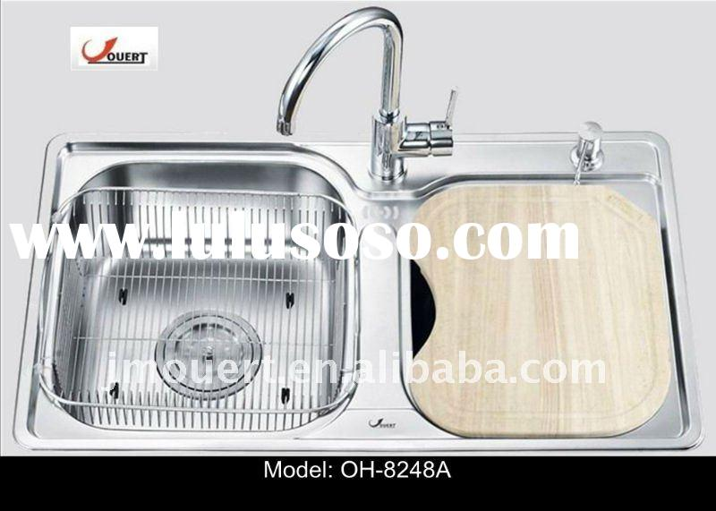 kitchen stainless steel double bowl sink