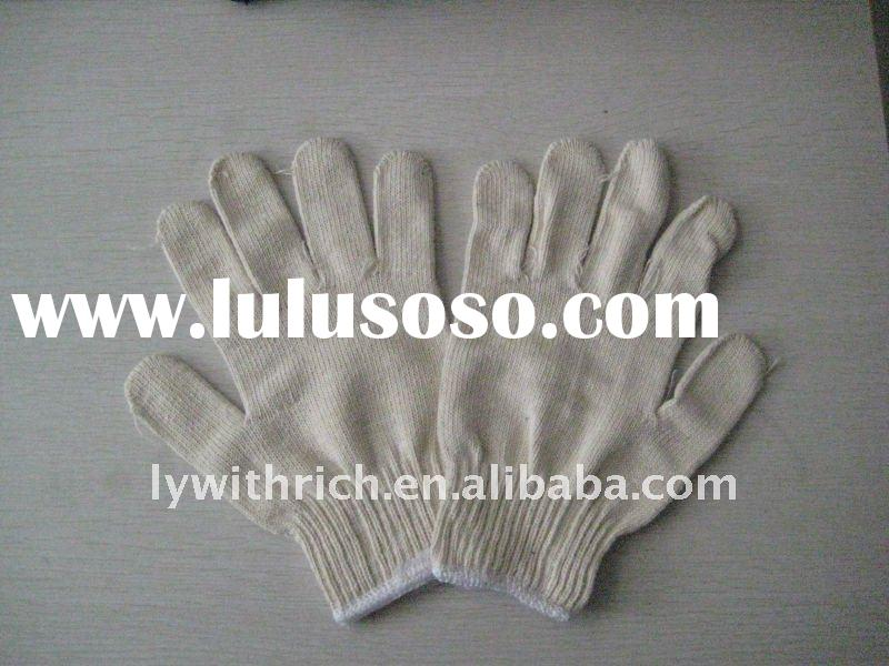 knitted cotton work gloves