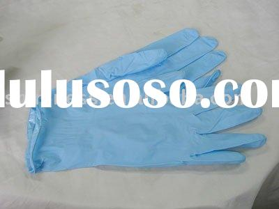 light blue nitrile disposable gloves CE Approved