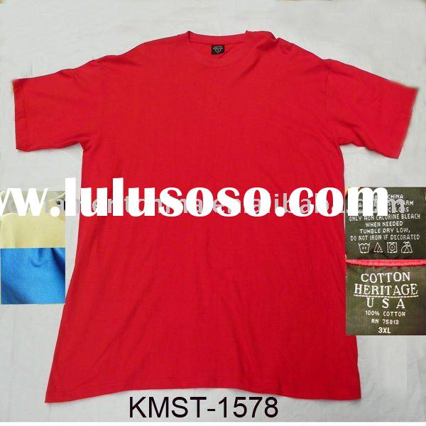 men's cotton t-shirt stock/short sleeve t-shirt stock