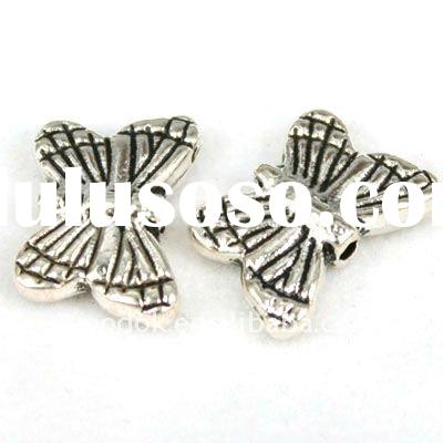 metal butterfly beads,alloy bead for jewelry,bead jewelry findings