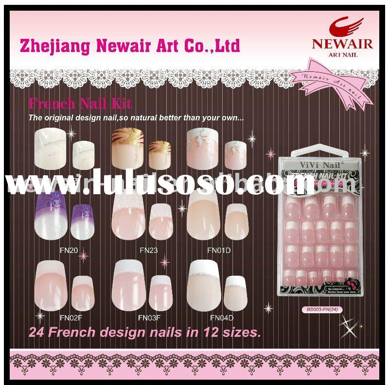 nail art(10sizes Half-Covered French White Tips)