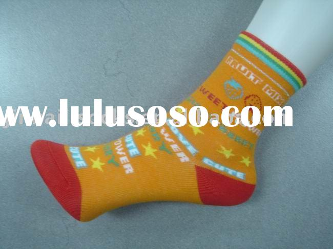 orange plain socks for children