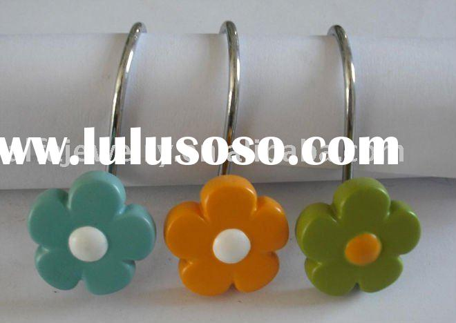 paint shower curtain hooks