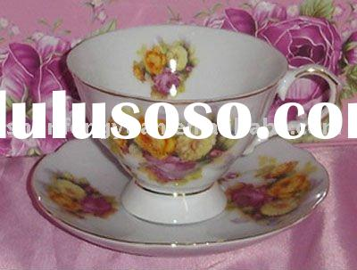 porcelain tea cup and saucer,miniature cups and saucers