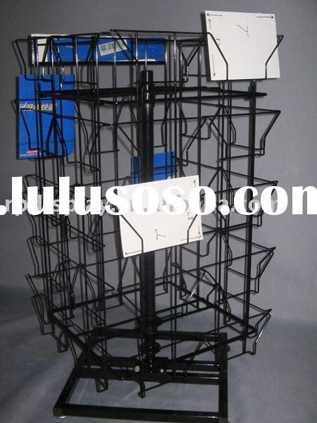 postcard display wire rack metal stand display shelf greeting card holder retail display stand card