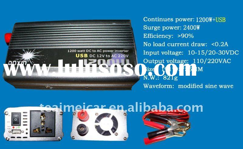 power inverter with USB plug 1200w DXP1200HUSB
