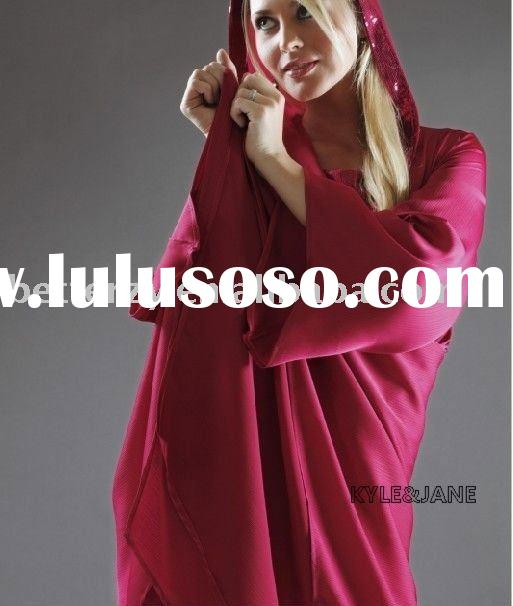 rose-red fashionable hooded tunic and pants,high quality tunics women,tunic tops for women,ladies tu