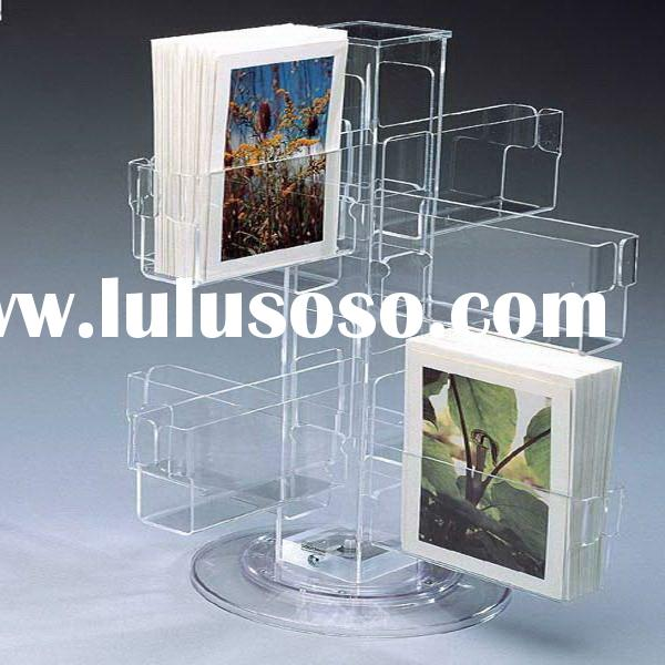 rotatable Acrylic Brochure Holder/greeting card display