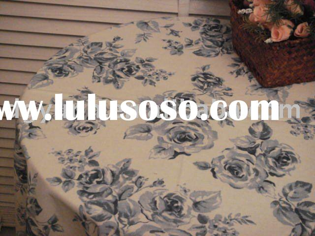 round table cover/printed table cover/non-phthalate table cover