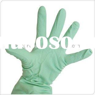 rubber glove , long rubber gloves neoprene glove, anti-chemical, anti-oil , cotton lined rubber glov