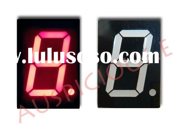 single digit 1.5 inch 7 segment LED display red