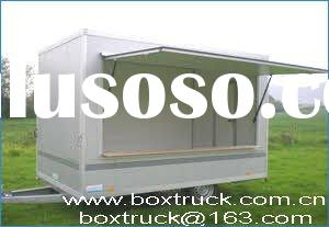 snack food vending trailer, cargo trailer, fully enclosed box trailer
