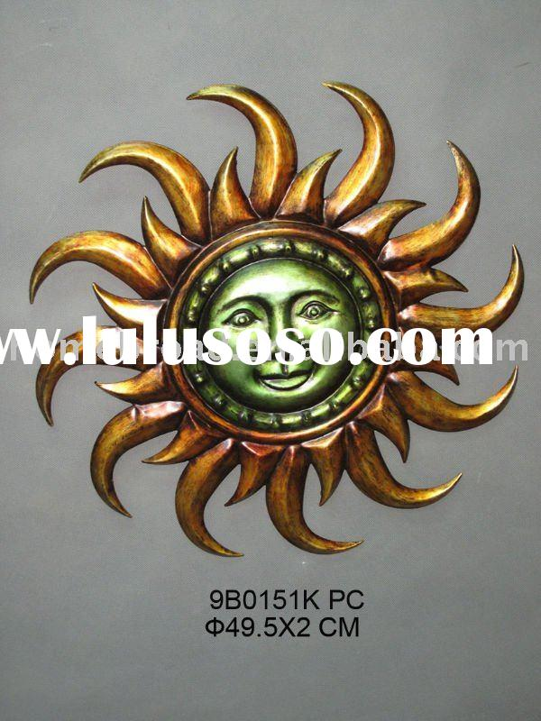sun face metal wall decoration