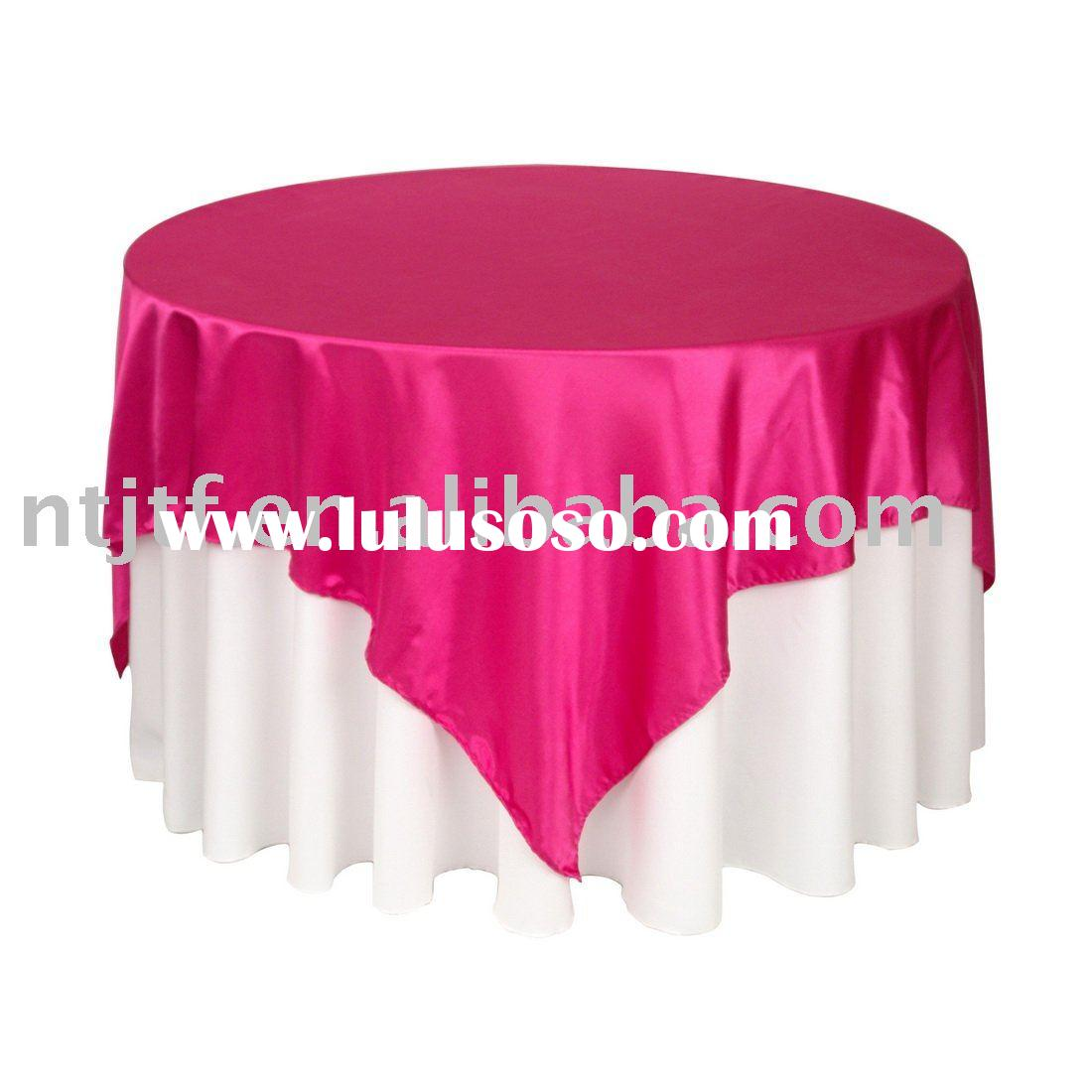 Table Cover , Satin Table Cloth Overlay . Table Linen For Weddings