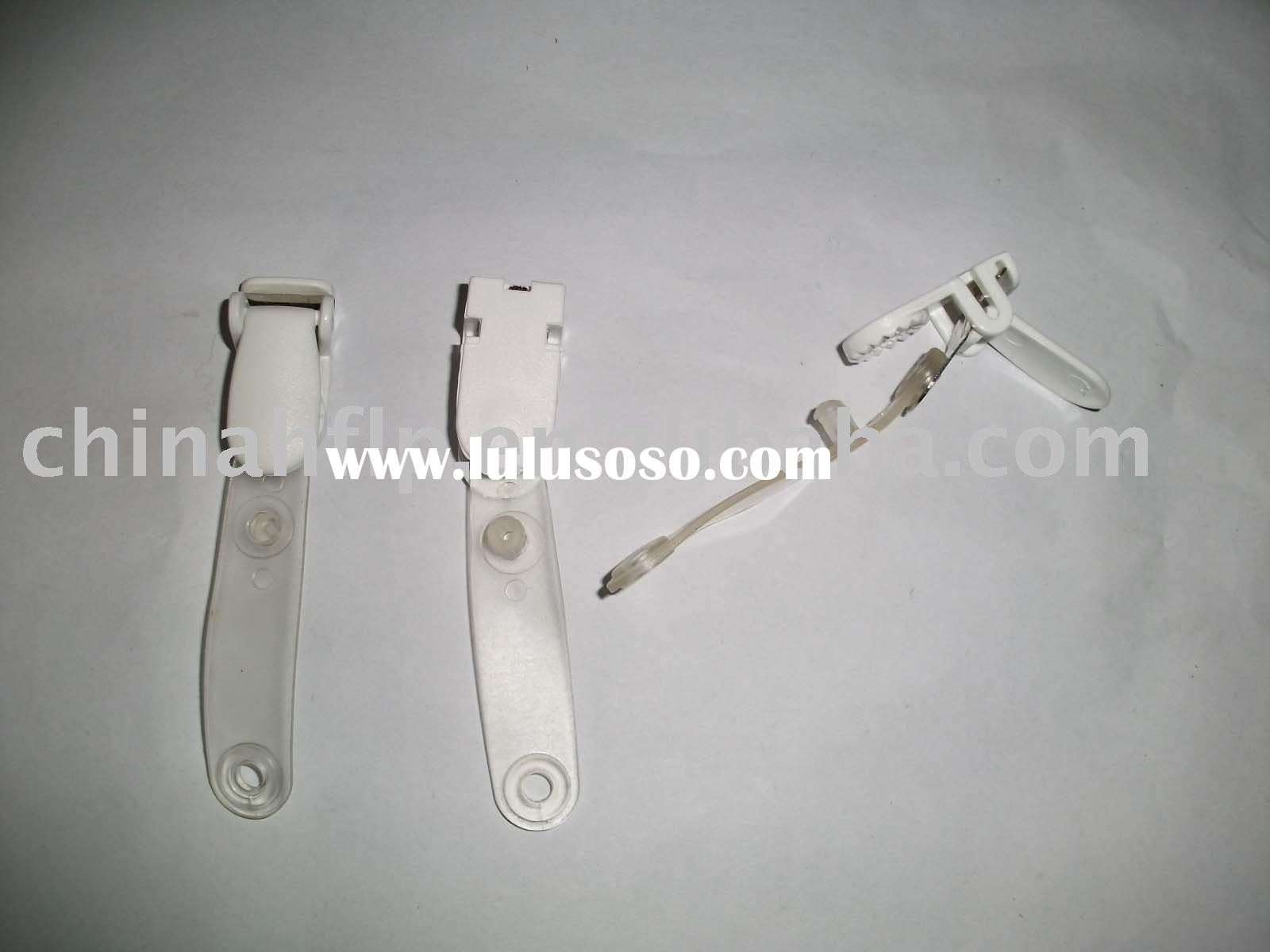 white color plastic name badge clip with plastic holder