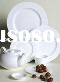 white porcelain dinnerware for hotel and restaurant and daily use