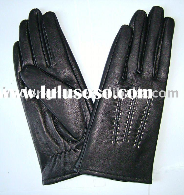 women wearing leather gloves