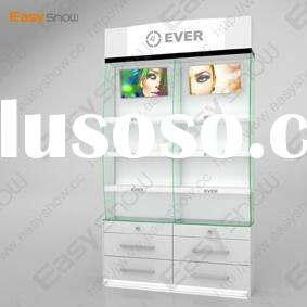 wooden&acrylic cosmetic display rack with led light(HOT SELLING)