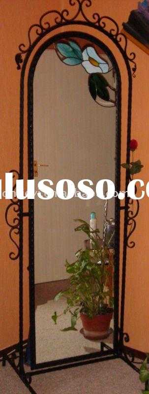 wrought iron mirrors, iron art mirrors, decorative iron mirrors
