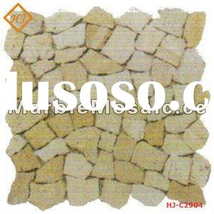 yellows marble mosaic tiles for paving stone (Good Quality)