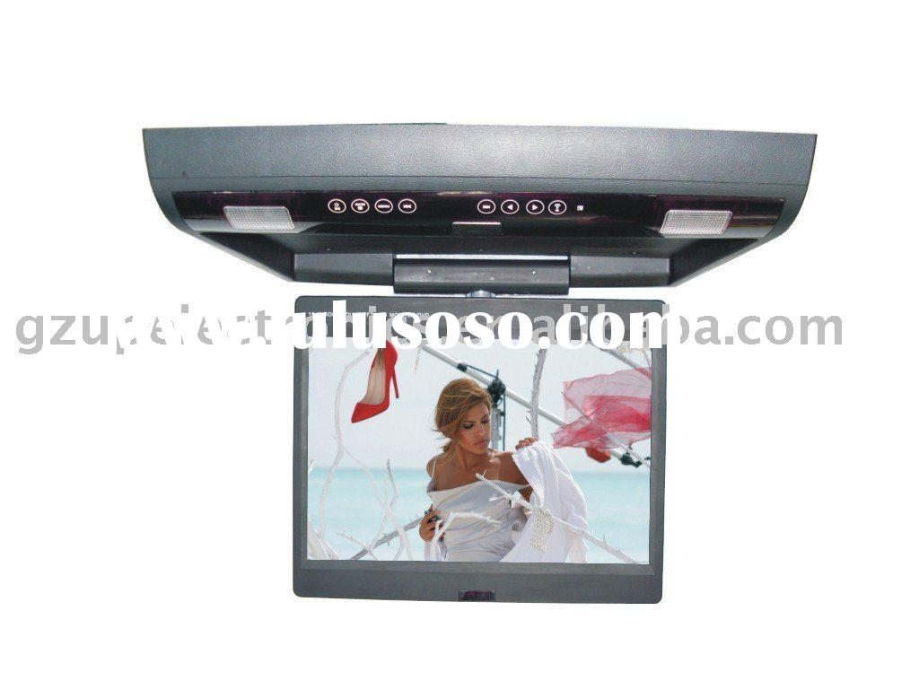 15.4 inch car flip down/roof mount dvd player with touch botton