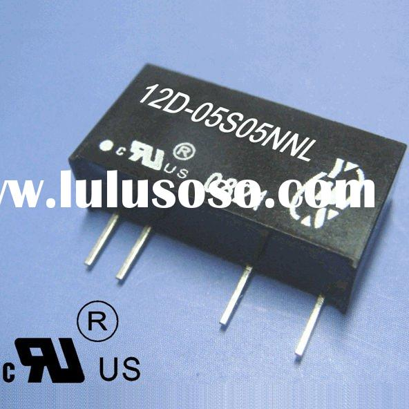 1 Watt 24v to 12v converter , 3KVdc Isolation , Single Output DC DC Converter , RoHS and UL Certific